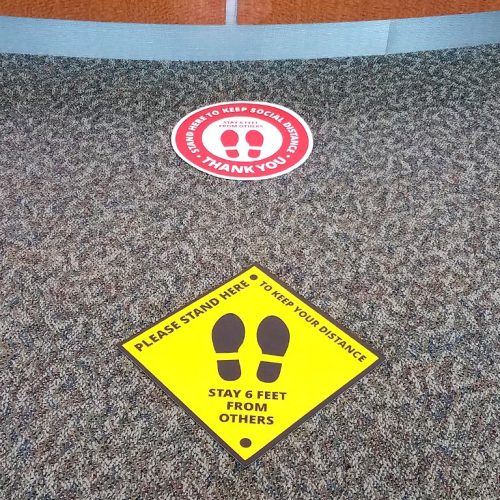 Social Distancing Floor Stickers - Two